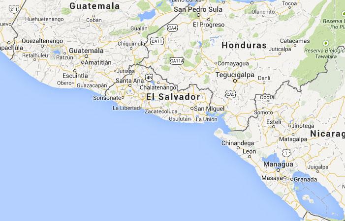 Mapa De El Salvador Donde Está Queda País Encuentra