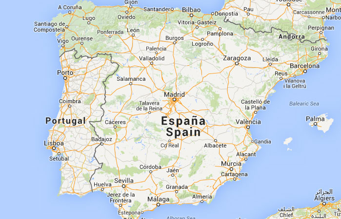 Mapa De Espa A Donde Est Queda Pa S Encuentra