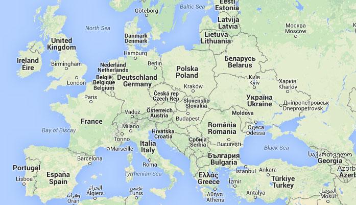 Mapa de Europa, donde está Europa, queda, encuentra, ubicación