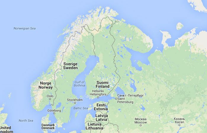 finlandia mapa Mapa de Finlandia, donde está, queda, país, encuentra  finlandia mapa