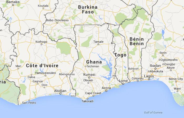 Mapa de ghana donde est queda pa s encuentra for Donde se encuentra el marmol