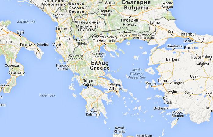 Mapa De Grecia Donde Esta Queda Pais Encuentra