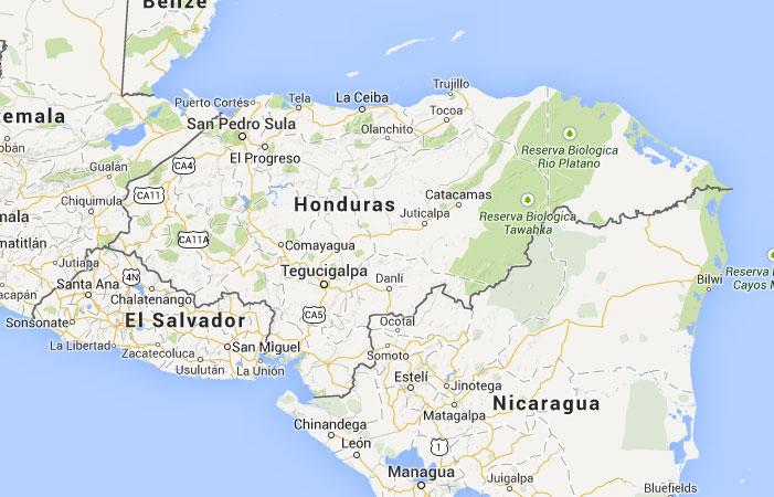 Mapa de Honduras donde est queda pas encuentra localizacin