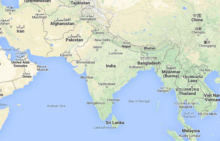 Mapa De La India En El Mundo.Mapa De India Donde Esta Queda Pais Encuentra