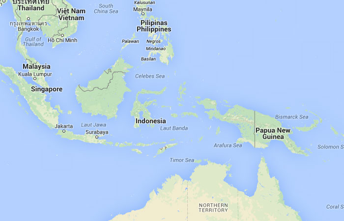 Mapa de Indonesia donde est queda pas encuentra