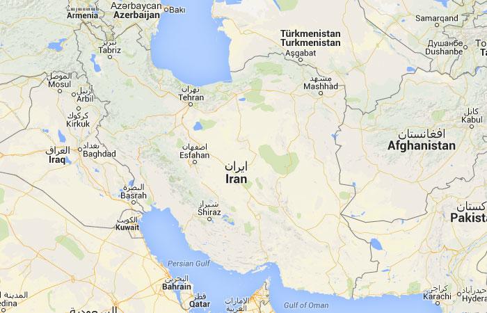 Mapa De Iran Donde Esta Queda Pais Encuentra Localizacion