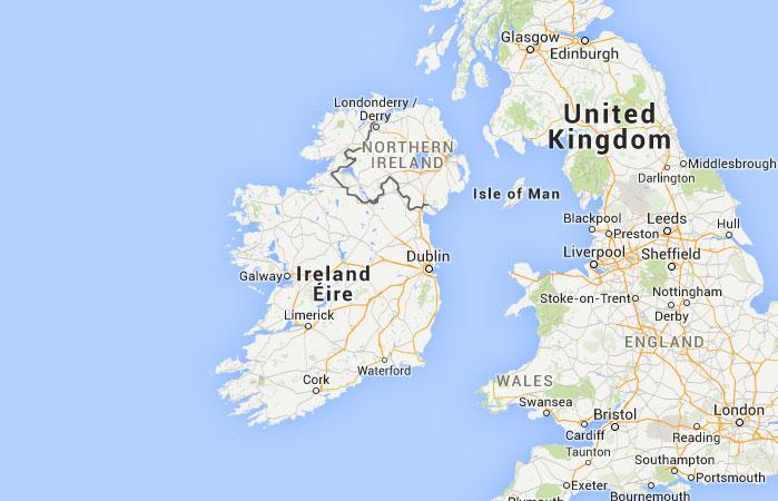 Mapa de Irlanda