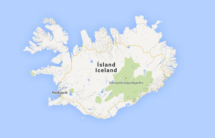 Mapa De Islandia Donde Esta Queda Pais Encuentra