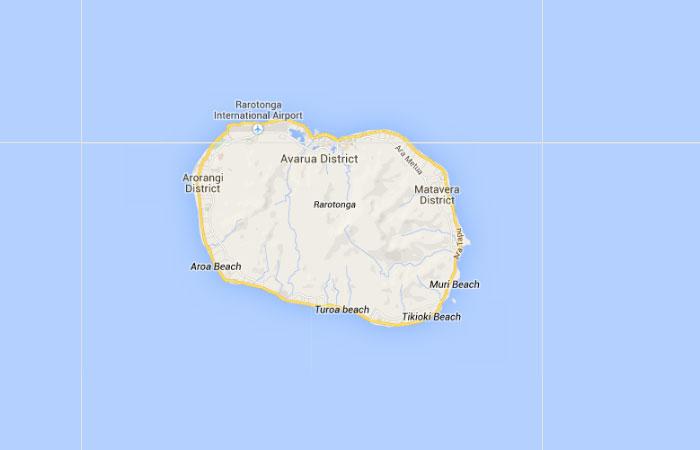 Mapa de Islas Cook