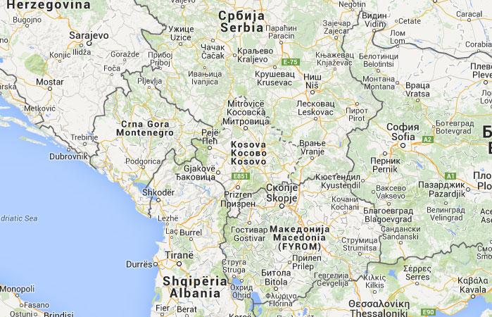 Mapa de Kosovo
