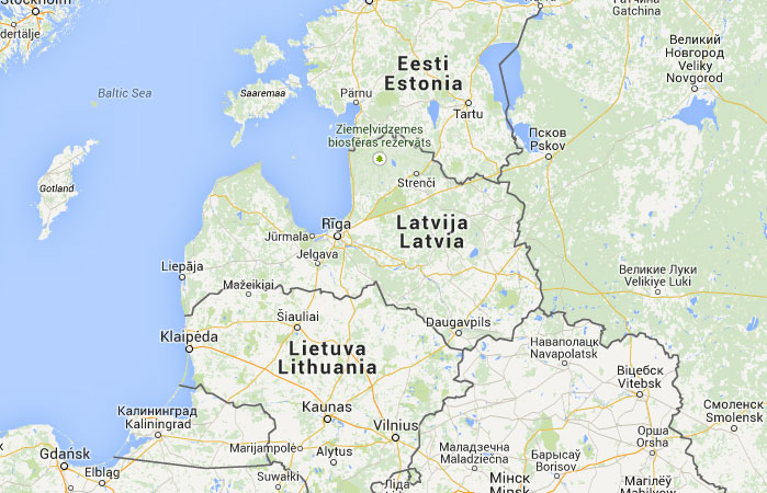 Mapa de Letonia