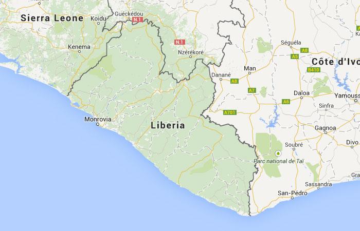 Worksheet. Mapa de Liberia donde est queda pas encuentra localizacin