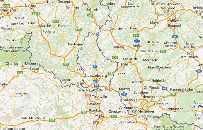 Mapa De Luxemburgo Donde Esta Queda Pais Encuentra