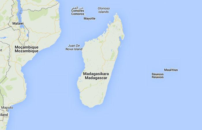 Isla De Madagascar Mapa.Madagascar Mapa Ciudades