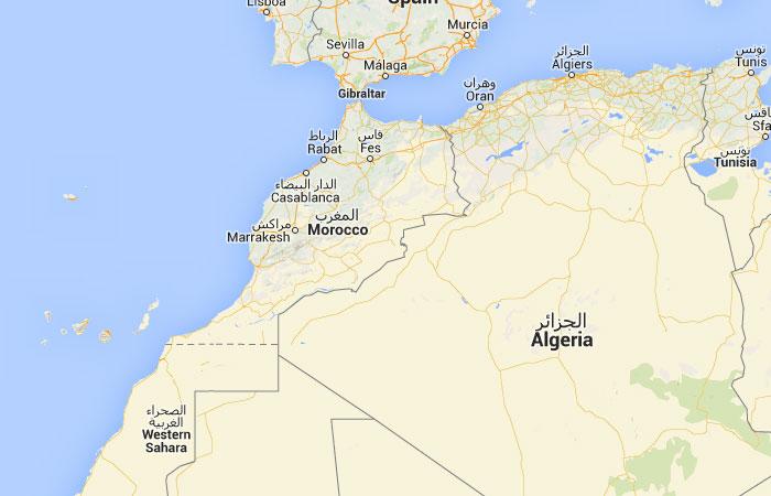 Mapa de Marruecos, donde está, queda, país, encuentra