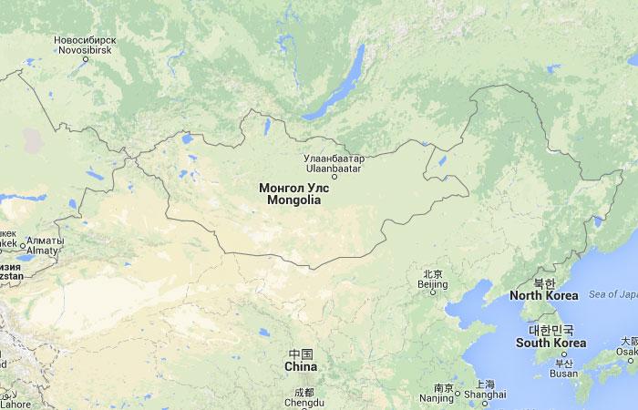 Mapa De Mongolia Donde Esta Queda Pais Encuentra