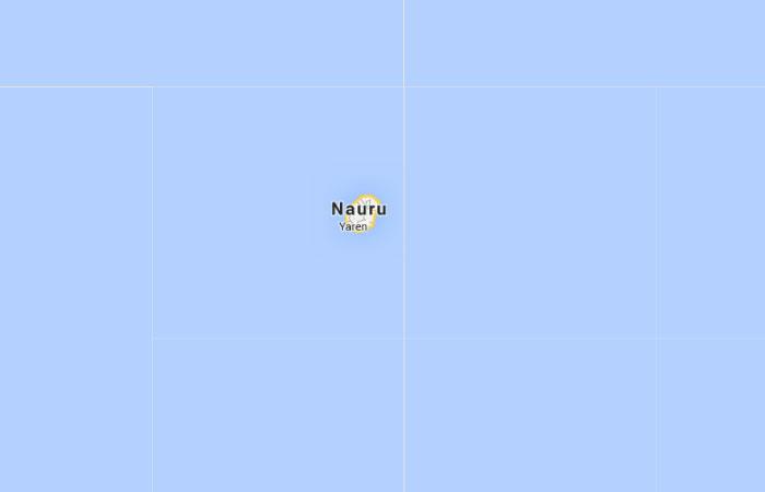 Mapa de Nauru