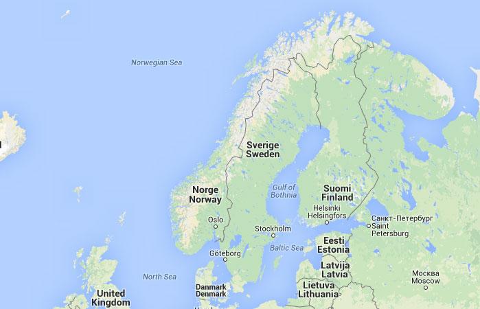 Noruega mapa capital for Donde se encuentra el marmol