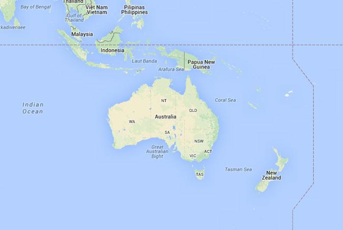 Mapa de Oceana donde est Oceana queda encuentra ubicacin