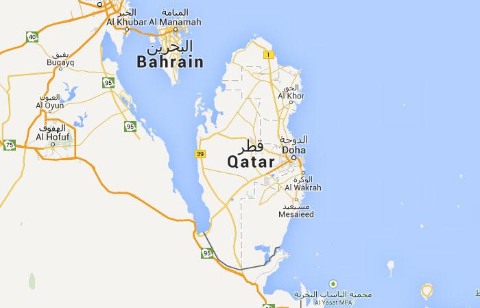 Mapa de Qatar donde est queda pas encuentra localizacin