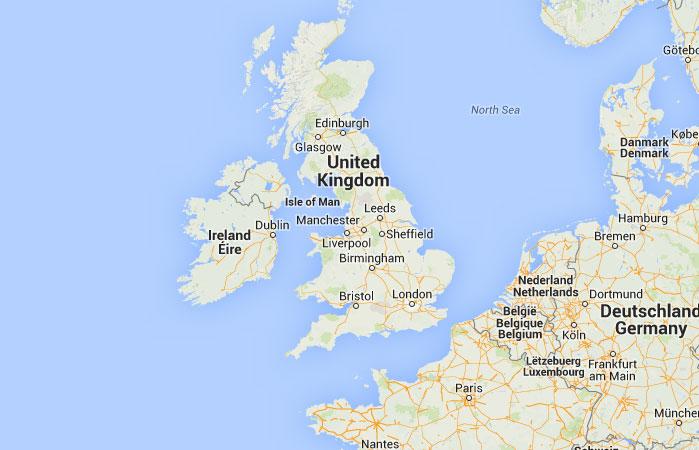 Reino Unido Capitales Mapa de Reino Unido