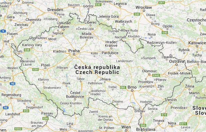 Mapa de Repblica Checa donde est queda pas encuentra