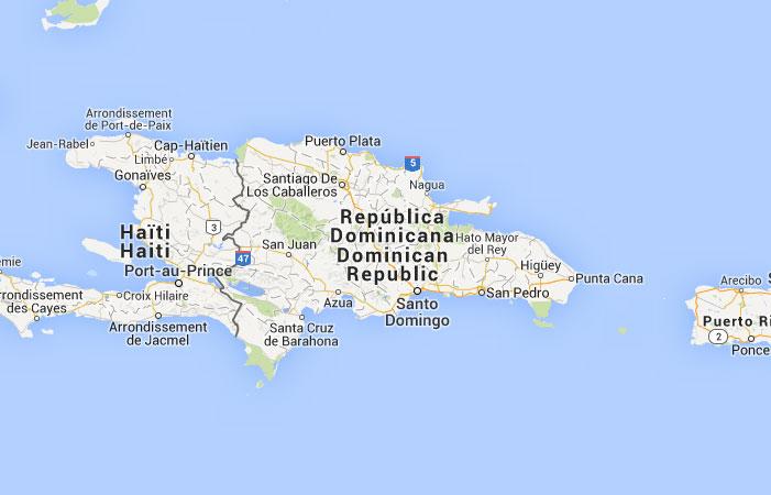 Mapa de Repblica Dominicana donde est queda pas encuentra