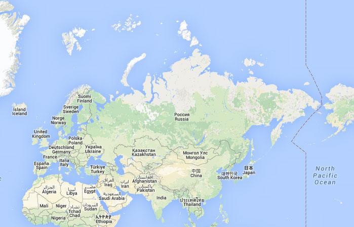 mapa grande mapa de rusia