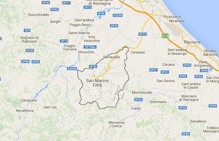San Marino Mapa Europa.Mapa De San Marino Donde Esta Queda Pais Encuentra