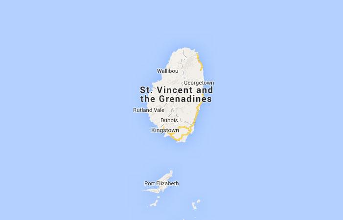 Mapa De San Vicente Y Las Granadinas Donde Esta Queda Pais