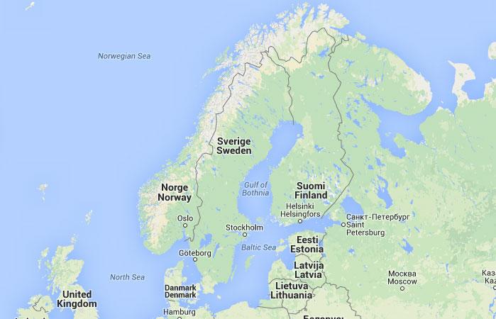 Mapa de Suecia donde est queda pas encuentra localizacin