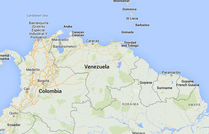 Puerto Rico Mapa Mundi.Mapa De Venezuela Donde Esta Queda Pais Encuentra