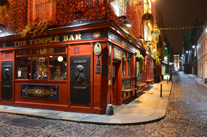 The Temple bar, paso obligado en Dublín