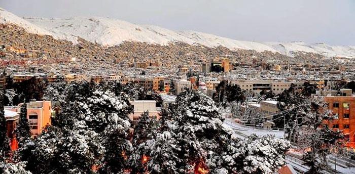 Ciudad de Damasco nevada