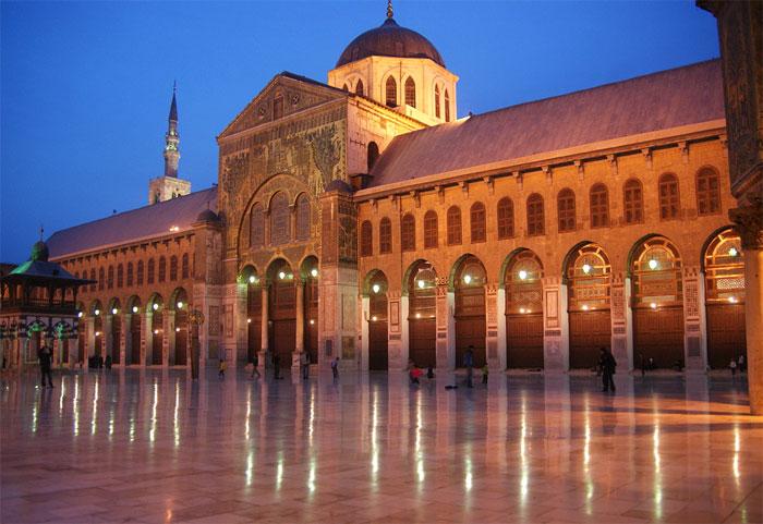 Mezquita Omeya, en la ciudad de Damasco