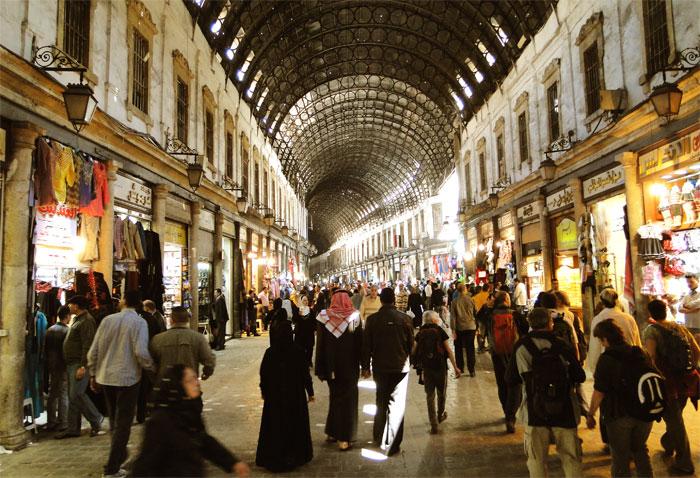 Zoco Al-Hamidiyah, en la ciudad de Damasco