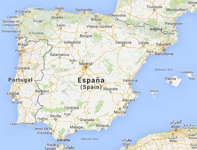 merida mapa de espana