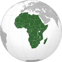 Mapa de Zambia vista satelital
